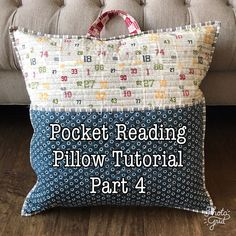 Pocket reading pillow tutorial part one Book Pillow, Reading Pillow, Pillow Cases, Sewing Hacks, Sewing Crafts, Sewing Projects, Sewing Toys, Baby Sewing, Sewing Clothes