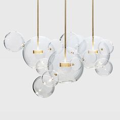 $289.00 Light up any room with 'Adria' our artful bubble chandelier. This chandelier is an absolute eye catcher and will fit perfect in your living, bed, kitchen or dining room.