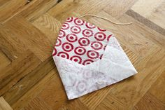 Another use for those plastic bags. A fused plastic bag envelope.  Great Idea #ecofriendly #DIY