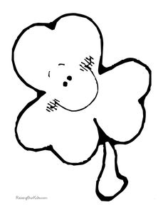 st. patrick's day coloring page: dot leprechaun   free printable ... - Shamrock Coloring Pages Printable