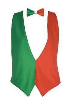 St Patrick/'s Day Green Braces /& Orange Bow Tie Fancy Dress