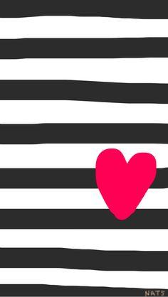 Striped love heart