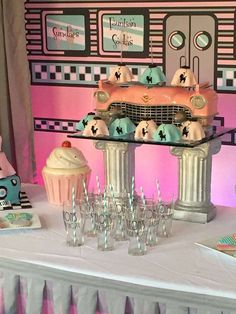 Retro Soda Shoppe birthday party! See more party ideas at CatchMyParty.com!