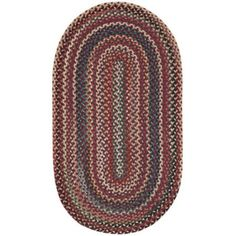 Sandy Rock Braided Rectangle Rug, Red