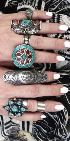 Bohemian jewelry style...