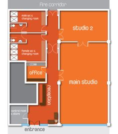 yoga studio floor plans - Google Search