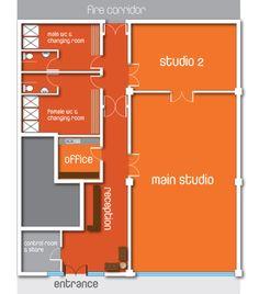 yoga studio floor plans - Google Search