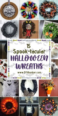 Halloween Wreath DIY Ideas That are Beyond Easy to Do These spooky dollar store Halloween wreath ideas are SCARY easy! Whether you love cute Disney type themes or scary decor, these are great for front door setups! Scary Decorations, Diy Halloween Decorations, Halloween Crafts, Halloween Wreaths, Halloween Porch, Easter Crafts For Kids, Fall Crafts, Pumpkin Crafts, Kids Diy