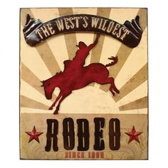 Rodeo Wall Plaque - CLEARANCE