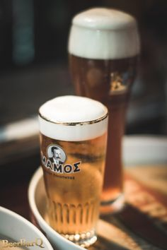 Mamos Greek draft Beer from our city.