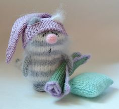 Cat Striped Fast Asleep Gray  Cute Kitten by MiracleStore on Etsy