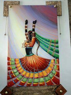 Kerala Mural Painting, Indian Art Paintings, Modern Art Paintings, Rajasthani Art, Hanging Paintings, Mandala Art Lesson, Art Drawings Sketches Simple, Diy Canvas Art, Mural Art