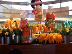 Creative use of oversized flowers from Thomas FX enhanced this in-store display.