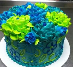 Love these cakes by The White Flower Cake Shop Pretty Cakes, Cute Cakes, Beautiful Cakes, Amazing Cakes, Buttercream Decorating, Buttercream Cake, Retirement Party Cakes, White Flower Cake Shoppe, Special Birthday Cakes