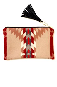 Another Portland fav brand is Seaecho - this Harlow Clutch made is from Pendleton wool and holds an ipad or your everyday goods // $74- Anissa