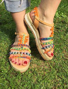 7941750d0f8a Greek Sandals Gladiator Sandals Made in Greece Bohemian Sandalia  Gladiadora, Sapatos, Sandálias Boho,