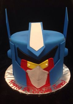 Transformers Angry Bird Boy Cakes, Cakes For Boys, 6th Birthday Parties, Birthday Cake, Transformer Birthday, Gravity Cake, Just Cakes, Angry Birds, Let Them Eat Cake