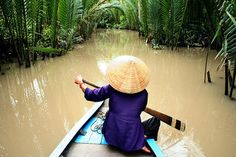 Traversing the Mekong Delta.
