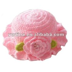 So Cute Pink W Flower Handmade Crochet Hats baby Hat hats And Caps For Kids  - Buy Baby Hat bc5fc82df25