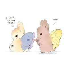 Cute Little Drawings, Cute Kawaii Drawings, Kawaii Art, Kawaii Bunny, Bunny Drawing, Bunny Art, Cute Kawaii Animals, Cute Little Animals, Pretty Art