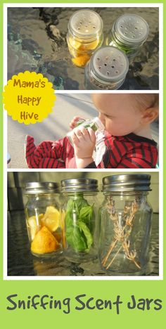DIY Montessori Inspired Scent Jars Small scent jar sensorial activity for young toddlers. Montessori Inspired Scent Jars www.mamashappyhiv The post DIY Montessori Inspired Scent Jars appeared first on Toddlers Ideas. Montessori Baby, Montessori Bedroom, Infant Activities, Activities For Kids, Young Toddler Activities, 5 Senses Activities, Motor Activities, Practical Life, Preschool Science