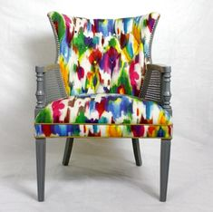 Colorful Accent Chairs   Colorful-Reupholster-a-Tufted-Accent-Chair