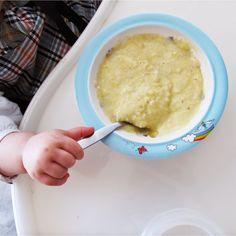 Na Cadeira da Papa: Papa de arroz, milho e maçã (sem glúten)