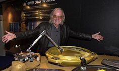 Colin Pillinger (1943 - 2014) with the Beagle 2 landing craft in 2002. The space scientist was the driving power behind the Beagle 2 mission. The craft landed on Mars on Christmas Day 2003. It was never heard from again. Sadly, Pillinger never learned of Beagle's fate. It wasn't  finally located until January 2015, using images from the HiRise camera on NASA's Mars Reconnaisance Orbiter.