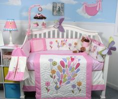Soho Gloria the Peacock Crib Bedding Collection