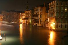 View from rialo bridge by night World Best Photos, Venice, Cool Photos, Explore, Night, Photography, Travel, Bridge, Photograph