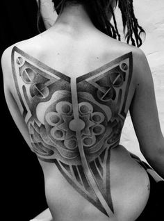 Cool Back Tattoo Deisgn, Means What
