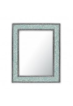 """Buy DecorShore Mint Green Crackled Glass Decorative Wall Mirror - 30""""X24"""" mosaic glass vanity mirror, glamorous (Mint Green) online at just $142.99 only."""