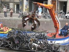 bikes in canals.... Amsterdam