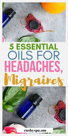 5 Essential Oils for Headaches and Migraines Looking for a headache remedy? Here are 5 essential oils for headaches and migraines, find the best headache essential oil for you. Essential Oils For Migraines, Essential Oils For Hair, Essential Oil Uses, Doterra Essential Oils, Migraine Essential Oil Blend, Oil For Headache, Migraine Relief, Migraine Oils, Stress Relief