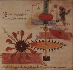 """The Book of Ingenious Devices (in Arabic, literally: """"The Book of Tricks"""") was a large illustrated work on mechanical devices, including automata, published in 850 by the three Iranian brothers known as the Banu Musa."""