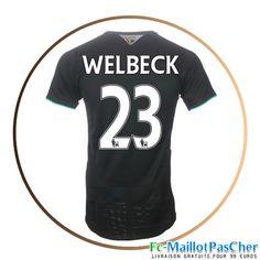 Maillot foot Arsenal noir WELBECK 23 Third 15 2016 2017