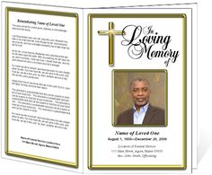 Embassy Funeral Order of Service program Template