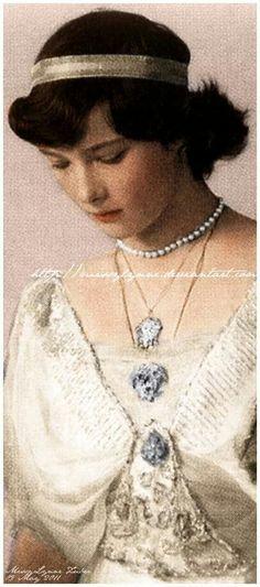 Grand Duchess Tatiana Nikolaevna of Russia (Tatiana Nikolaevna Romanova) (Russian: Великая Княжна Татьяна Николаевна)