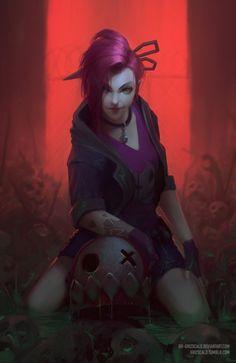 grizscald: Zombie Slayer Jinx fanart :3 twitter.com /... #Leagueoflegends