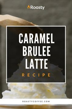 If you guys haven't tried this latte yet, what are you waiting for? All the rich and decadent flavors in this smooth caramel brulee latte are something else! Skip the Starbucks line and make this at home! Easy to put together with no fancy equipment required! Coffee Cream, Coffee Latte, Coffee Drink Recipes, Coffee Drinks, Starbucks Caramel Brulee Latte, Spanish Coffee, Coffee Brownies, Coffee Counter, Vietnamese Iced Coffee