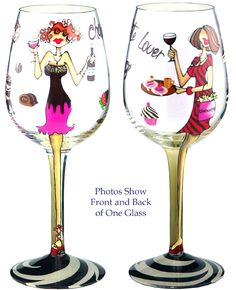 Amazon.com: Bottom's Up 15-Ounce Chocolate and Wine Make Everything Fine Handpainted Wine Glass: Home & Kitchen