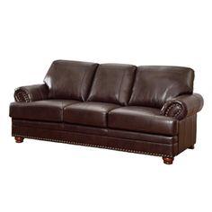 Coaster Fine Furniture Colton Brown Bonded Leather Sofa 504411