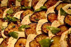 Aubergines-Mozzarella © Ana Luthi Tous droits réservés http://www.l-eaualabouche.com/2016/06/aubergines-mozzarella.html
