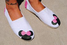 Minnie Mouse shoes for adults. $55.00, via Etsy.
