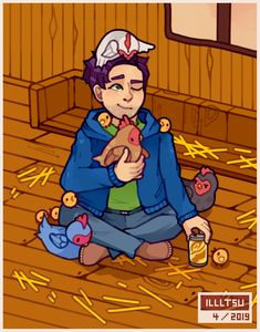 Stardew Valley is an open-ended country-life RPG with support for players. Stardew Valley Fanart, Moon Lovers, Emo Boys, Game Character, Animal Crossing, Game Art, Videogames, Gaming, Fandoms