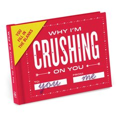 Knock Knock Why I'm Crushing on You Fill in the Love™ Journal. Funny Valentine's Day gifts to wow the one you love (or like). Gift ideas for a crush, too!