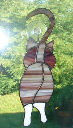 Walking Cat Stained Glass