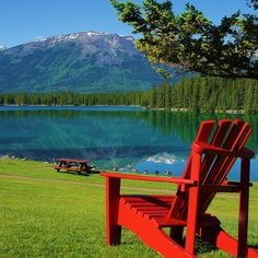 Love the colourful chairs there and at Becker's Cabins. The Fairmont Jasper Park Lodge ... Jasper National Park, Canadian Rockies