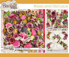 Roses and Old Lace by Booland Designs #thestudio #digitalscrapbooking #sale