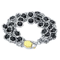 Onyx Set In Tacori Sterling Silver Perfect Bracelet For A Night Out I Love